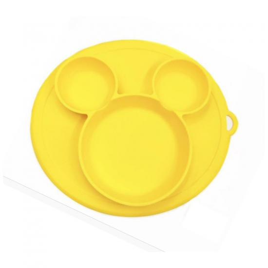 Silicone baby plate