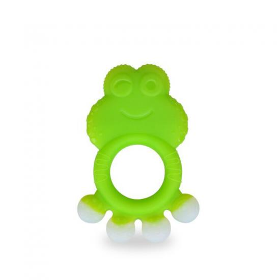 Baby silicone teethers BPA free toddler infant teething ring toy cute frog design