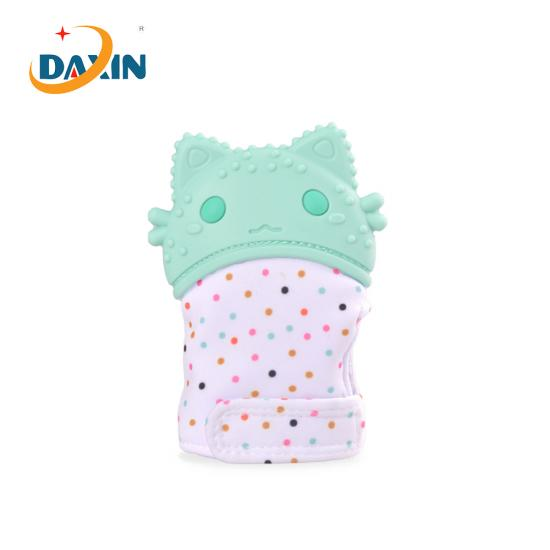 Food grade silicone baby gloves teether