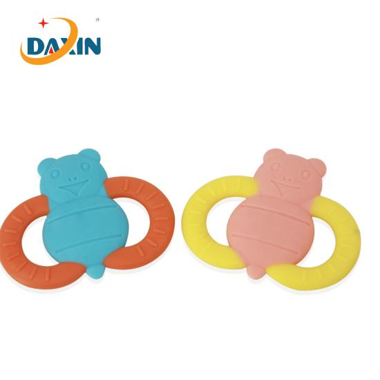 Baby silicone teether bees