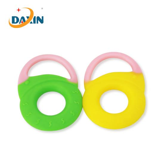 Round shape silicone baby teether